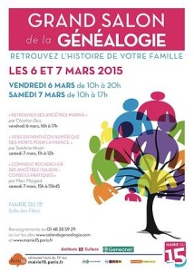 salon genealogie 2015-03-06 Paris