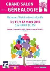 salon genealogie 2016-03-11 Paris