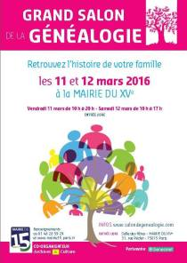 salon genealogie 2016-03-11 Paris