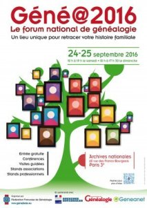 salon genealogie 2016-09-24 Paris