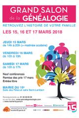 salon genealogie 2018-03-15 Paris