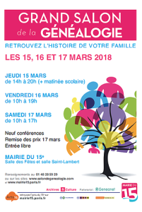 salon genealogie 2018-03-15 Paris
