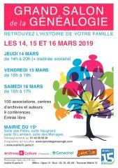 salon genealogie 2019-03-14 paris