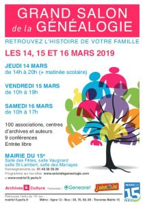 salon genealogie 2019-03-14 paris